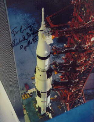 Dick Gordon signed Apollo 12 Saturn 5