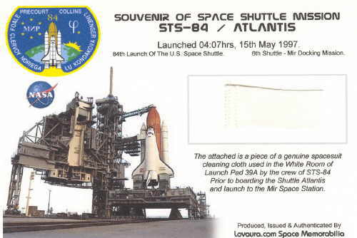 STS-84, Space Shuttle Atlantis Relic Card