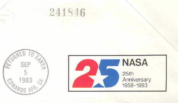 STS-8 Space Shuttle Flown Cover